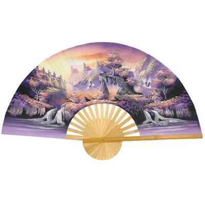 Oriental Furniture Glorious Dream Oriental Fan Wall Décor