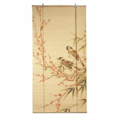 Love Birds Bamboo Roller Blind Product Photo