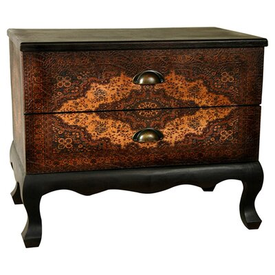 Oriental Furniture Olde-Worlde Euro 2 Drawer Cabinet