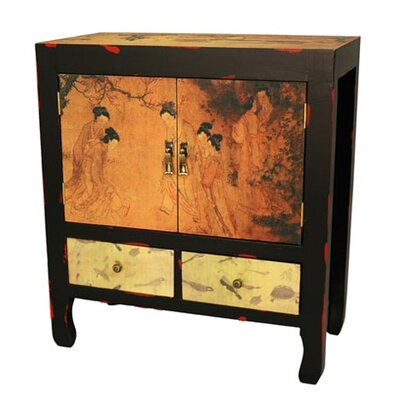 Angels In The Garden End Table by Oriental Furniture