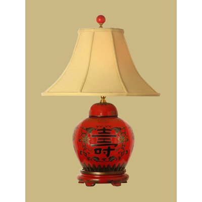 Oriental Furniture Lacquer Jar Table Lamp