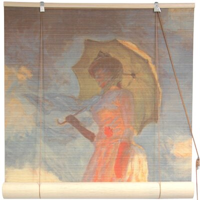 Girl with a Parasol Bamboo Roller Blind Product Photo