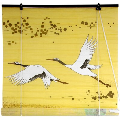 Cranes Shoji Rice Paper Roller Blind Product Photo