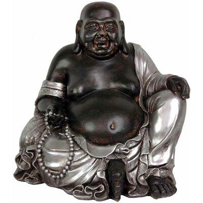 Oriental Furniture Sitting Happy Buddha Figurine