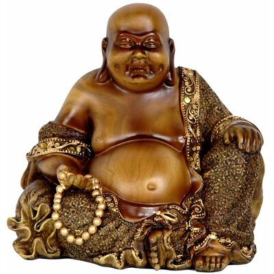 Gretta Laughing Buddha Figurine by Bungalow Rose