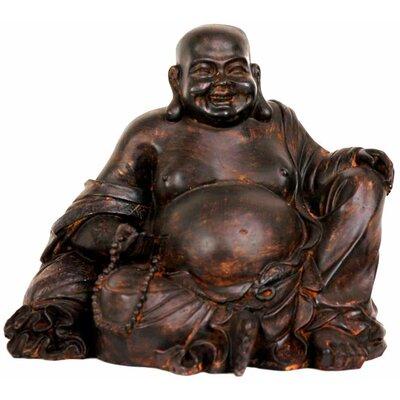 Oriental Furniture Sitting Laughing Buddha Figurine