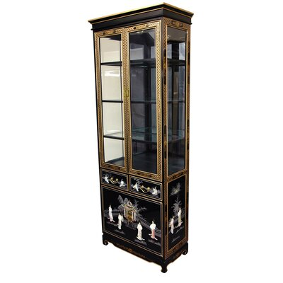 Mother of Pearl - Ladies Tall Curio Cabinet by Oriental Furniture