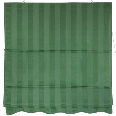 Striped Retractable Cotton Roman Shade Product Photo