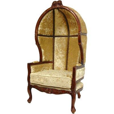 Queen Victoria Velvet Balloon Chair by Oriental Furniture