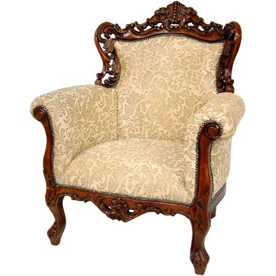 Queen Victoria Wing Chair by Oriental Furniture