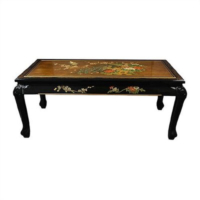 Gold Leaf Coffee Table with Claw Feet by Oriental Furniture