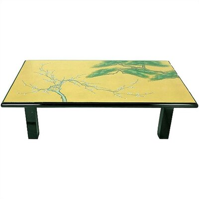 Gold Leaf Coffee Table by Oriental Furniture