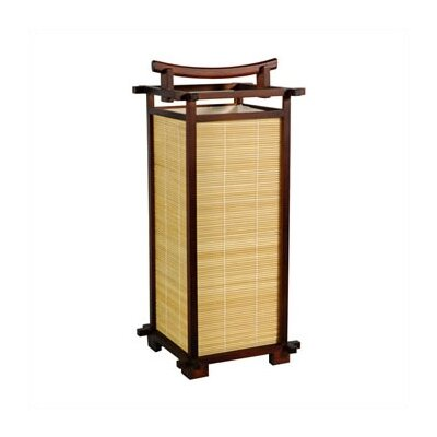 "Oriental Furniture Nara 18"" H Table Lamp with Rectangular Shade"