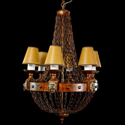 Oriental Furniture Old Fashioned Metal Chains Chandelier