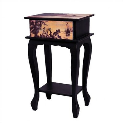 Ladies on Water Multi-Tiered Telephone Table by Oriental Furniture