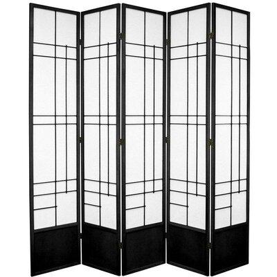 "Oriental Furniture 83.5"" x 72"" Eudes Shoji 5 Panel Room Divider"