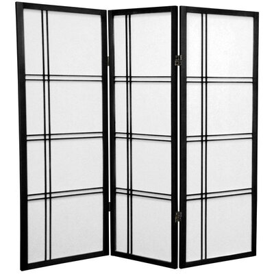 "Oriental Furniture 48"" x 42"" Double Cross Shoji 3 Panel Room Divider"