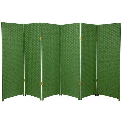 "Oriental Furniture 48"" x 96"" Woven Fiber 6 Panel Room Divider"