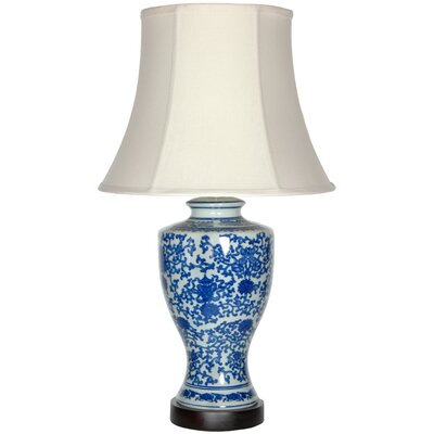 """Oriental Furniture Victorian Design 28"""" H Table Lamp with Bell Shade"""