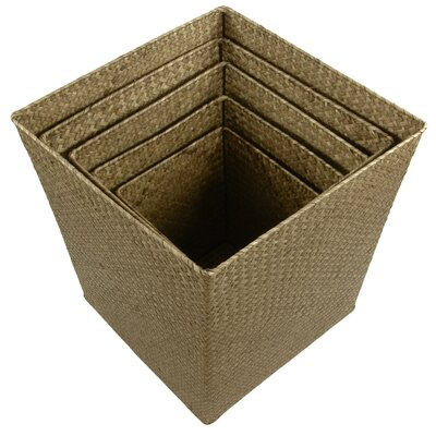 Oriental Furniture Hand Woven Storage Bin