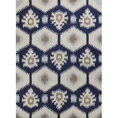 Rajapur Ivory & Navy Area Rug by Bashian Rugs
