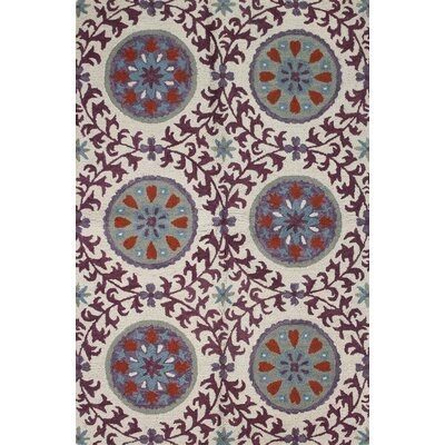 Seville Ivory/Lilac Rug by Bashian Rugs