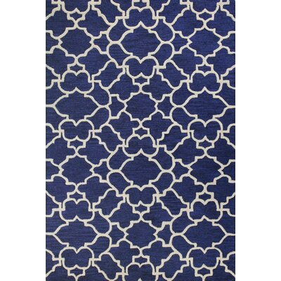 Rajapur Ivory/Navy Area Rug by Bashian Rugs