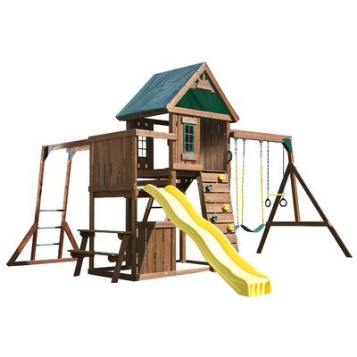 Chesapeake Wood Complete Swing Set Product Photo