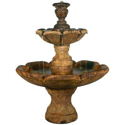 Henri Studio Tiered Cast Stone Finial Cascade Fountain