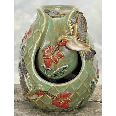 Porcelain Hummingbird Water Fountain by Coyne's Company