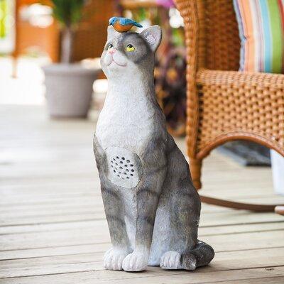 Landscape Melodies Frisky Cat Statue by Evergreen Enterprises, Inc