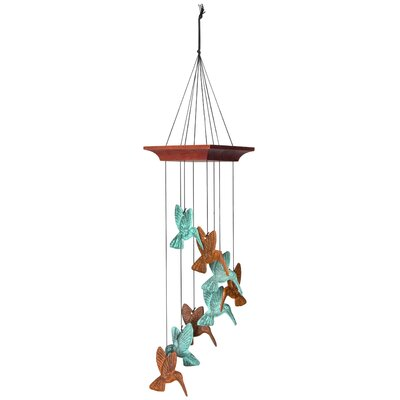 Hummingbird Spiral, Terra Celestial Wind Chime by Woodstock Chimes