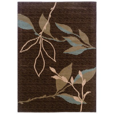 LR Resources Opulence Brown/Light Moss Area Rug