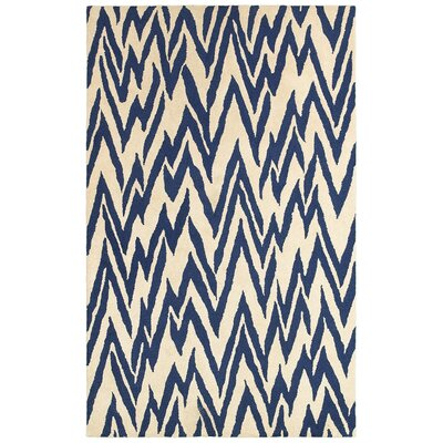 LR Resources Dazzle Beige/Blue Rug