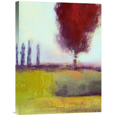 Three Cypress by Lou Wall Painting Print on Wrapped Canvas by Global Gallery