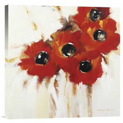 Crimson Poppies I by Natasha Barnes Painting Print on Wrapped Canvas by Global Gallery