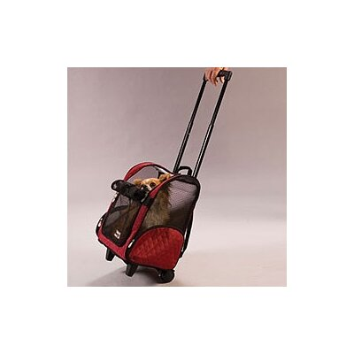 Wheel Around Travel Pet Carrier in Red by Snoozer