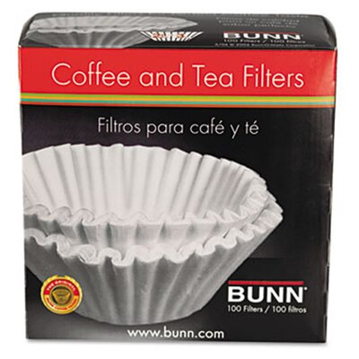 Bunn Coffee Filters, 100 Filters/Pack