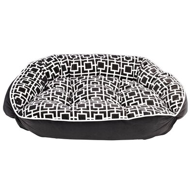 Diam Microvelvet Crescent Bolster Dog Bed by Bowsers