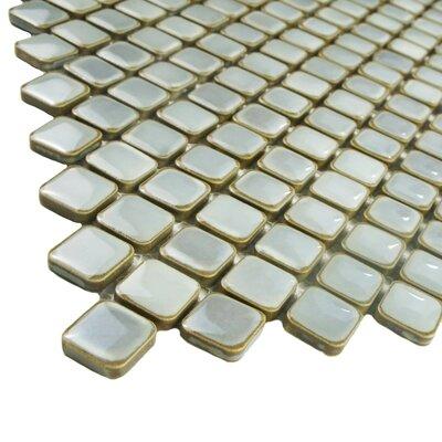 Gem 0 75 Quot X 0 75 Quot Porcelain Mosaic Tile In Glossy Gray