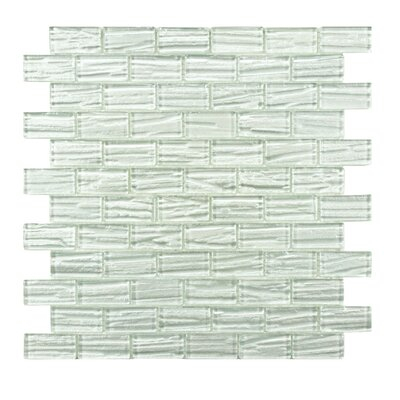 Timber Glass Mosaic Tile in White by EliteTile