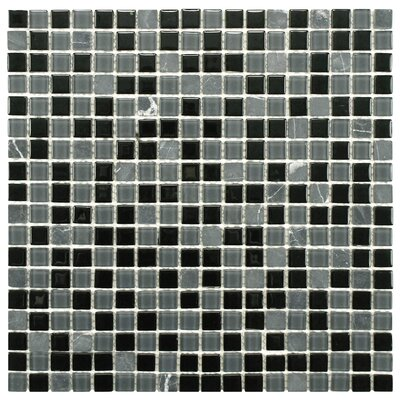 Ambit Glass and Natural Stone Mosaic Tile in Citadel by EliteTile