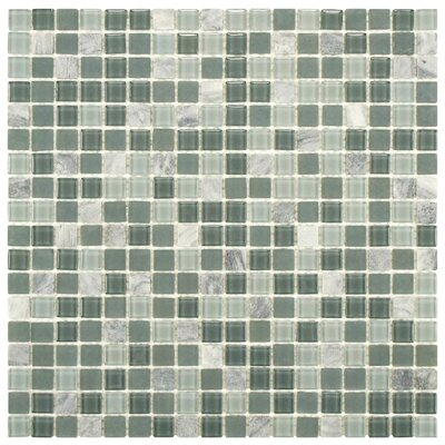 Ambit Glass and Natural Stone Mosaic Tile in Fortress by EliteTile