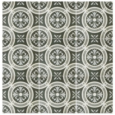 "EliteTile Annata 9.5"" x 9.5"" Porcelain Field Tile in Classic"