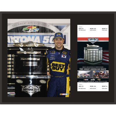 NASCAR 2012 Daytona 500 Champion Sublimated Memorabilia Plaque by Mounted Memories