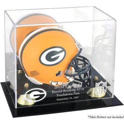 Mounted Memories NFL Brett Favre 421st TD Record-Breaker Mini Helmet Display Case