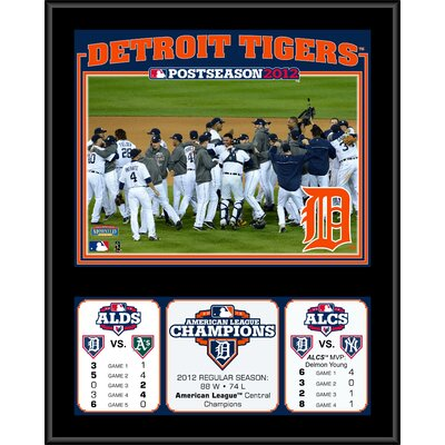 Mounted Memories MLB Detroit Tigers 2012 American League Champions Sublimated Plaque