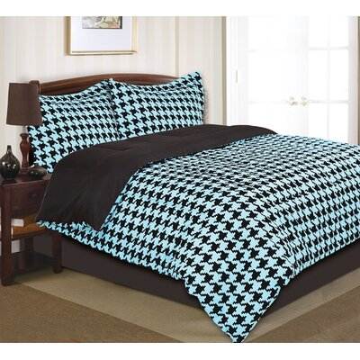 Houndstooth Comforter Set by Divatex Home Fashions
