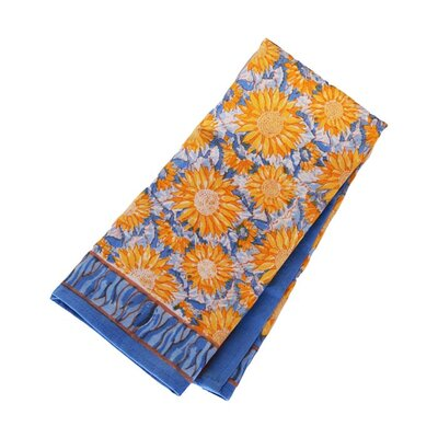 Couleur Nature Sunflower Yellow Blue Tea Towel