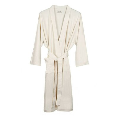 Natural Living Organic Cotton Jersey Bathrobe by Nine Space